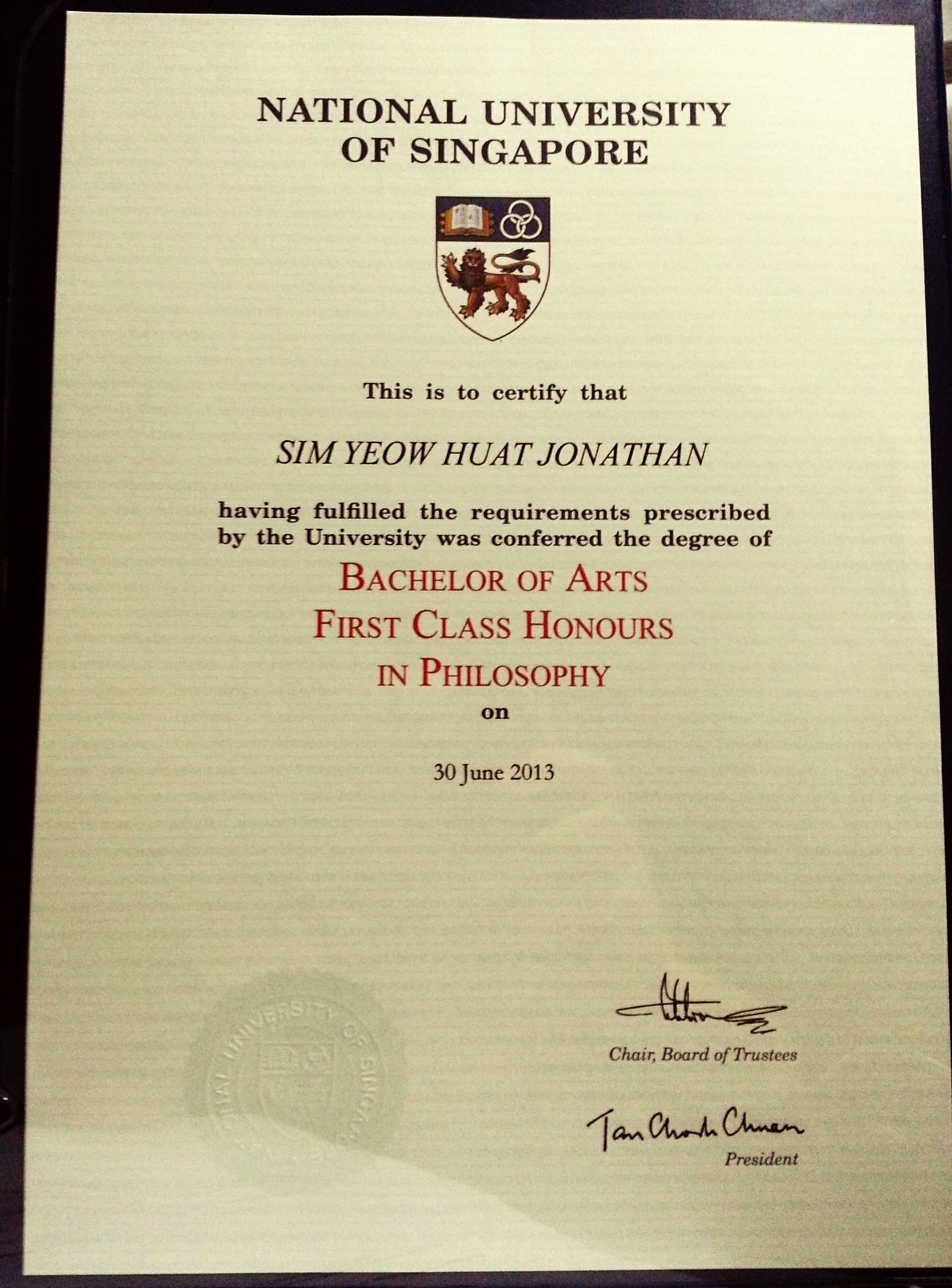 OMG!!! First Class Honours!!! I never thought that this day would have been possible!